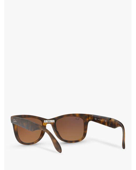 4aa010029a Ray-Ban Rb4105 Men s Folding Wayfarer Sunglasses in Brown for Men - Lyst