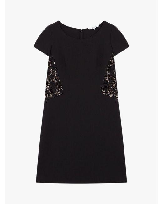 Gerard Darel - Black Embroidered Allyson Dress - Lyst