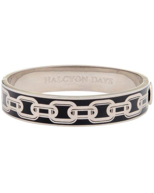 Halcyon Days   Black Chain Hinge Bangle   Lyst