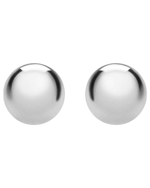 Ib&b - Metallic 9ct White Gold Ball Stud Earrings - Lyst
