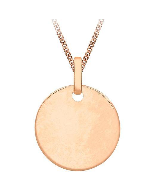 Ib&b   Metallic 9ct Gold Disc Initial Pendant Necklace   Lyst