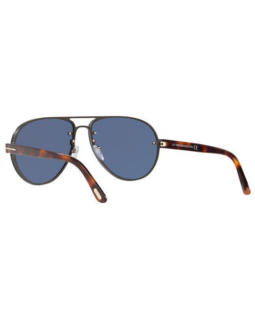 da794d71e59 ... Lyst Tom Ford - Blue Ft0622 Men s Alexei-02 Aviator Sunglasses for Men  ...