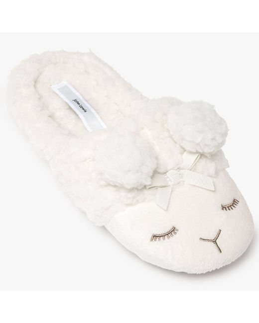 John Lewis - White Lamb Mule Slippers - Lyst
