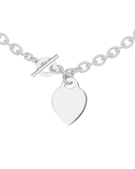 Ib&b | Metallic Sterling Silver Heart Link Necklace | Lyst