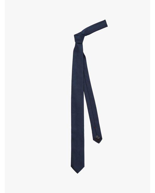 BOSS - Blue Hugo By Silk Logo Tie for Men - Lyst