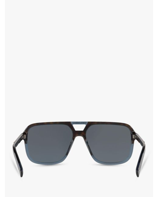 74b58aef9b29a Dolce   Gabbana Dg4354 Men s Square Sunglasses in Black for Men - Lyst