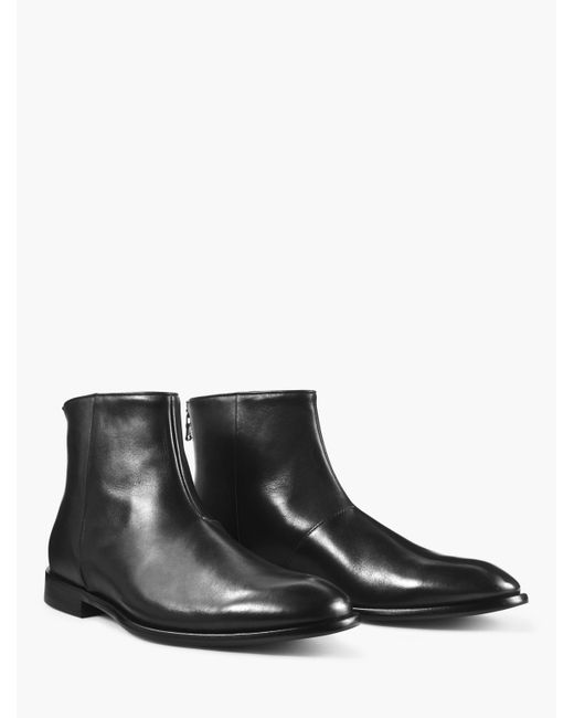 John Varvatos - Black Nyc Back Zip Boot for Men - Lyst
