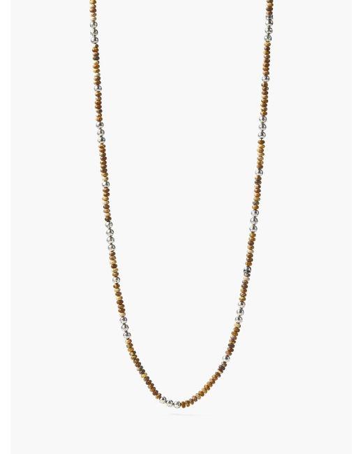 John Varvatos - Metallic Beaded Mercer Necklace for Men - Lyst