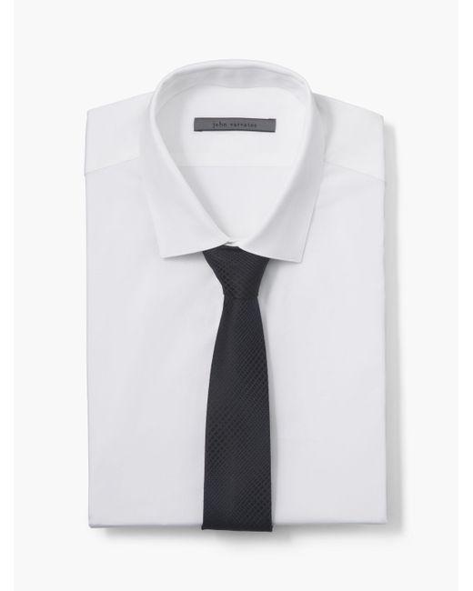 John Varvatos | Blue Collection Patterned Skinny Tie for Men | Lyst