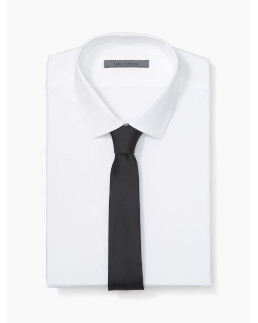 John Varvatos - White Solid Skinny Tie for Men - Lyst