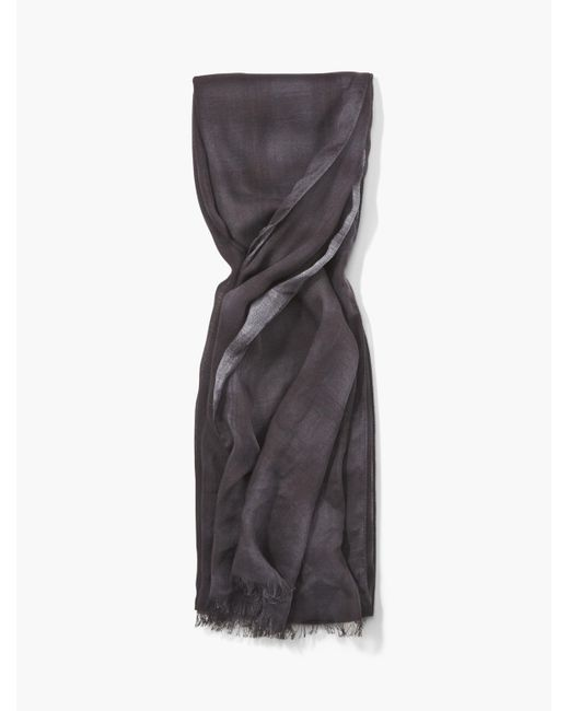 John Varvatos | Gray Crinkled Ombre Grid Light Weight Scarf for Men | Lyst