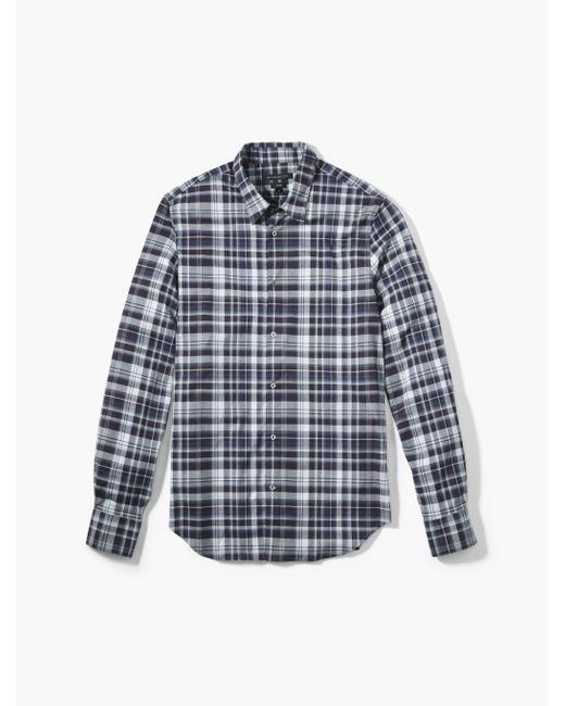 John Varvatos   Blue Plaid Sport Shirt for Men   Lyst