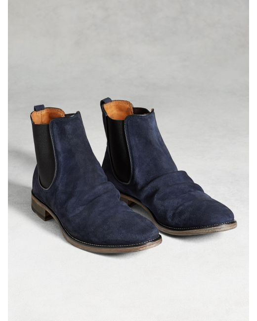 John Varvatos | Blue Fleetwood Classic Chelsea Boot for Men | Lyst