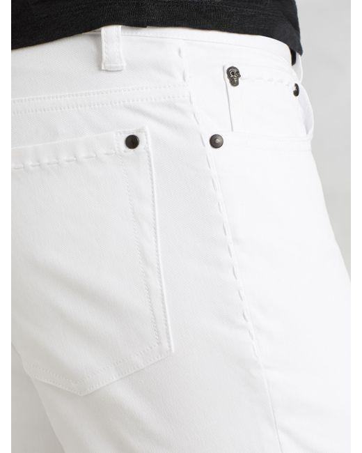 John Varvatos | White Woodward Cotton Canvas Jean for Men | Lyst