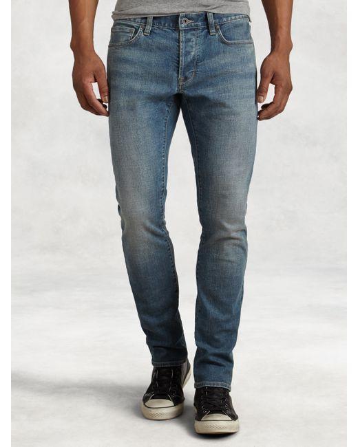 John Varvatos | Blue Bowery Medium Wash Jean for Men | Lyst