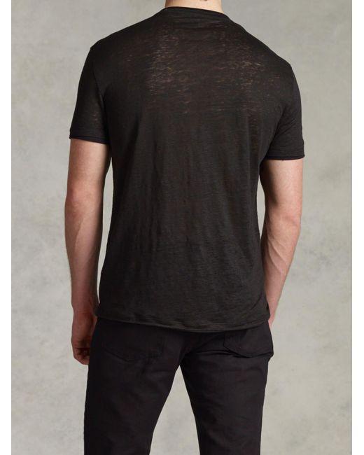 John Varvatos   Black Jersey Trim Short Sleeve V-neck for Men   Lyst