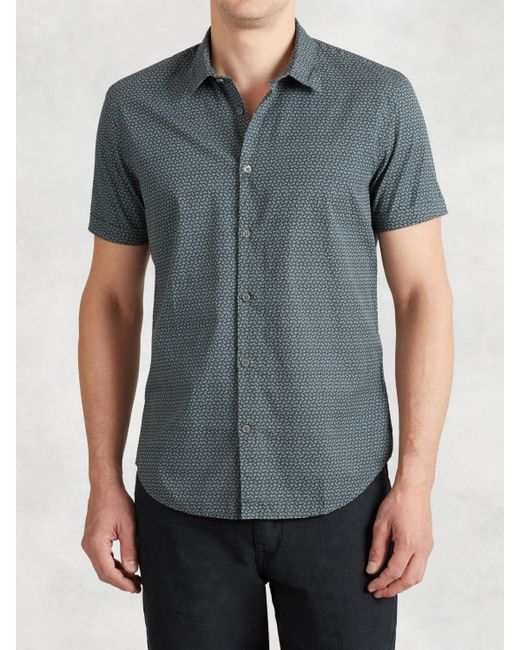 John Varvatos | Blue Long-sleeved Cotton Shirt for Men | Lyst
