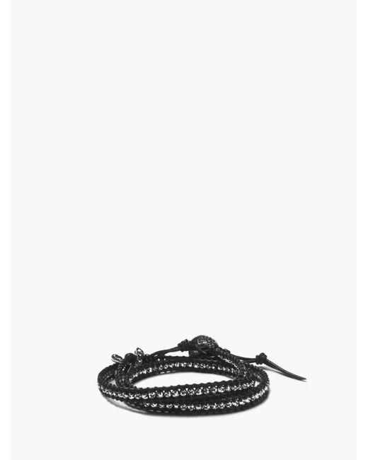 John Varvatos - Black 3-layer Beaded Wrap Bracelet for Men - Lyst