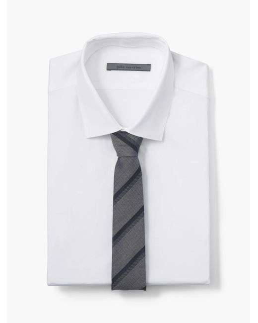 John Varvatos | White Collection Striped Skinny Tie for Men | Lyst