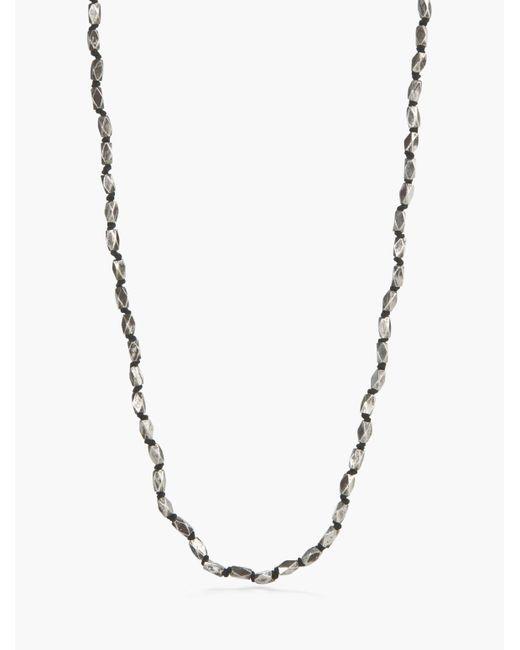 John Varvatos | Metallic Sterling Silver Necklace for Men | Lyst