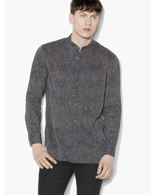 John Varvatos | Gray Abstract Printed Shirt for Men | Lyst