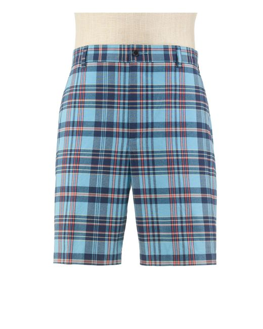 Jos. A. Bank - Blue Stays Cool Tailored Fit Plain Front Plaid Shorts Clearance By for Men - Lyst