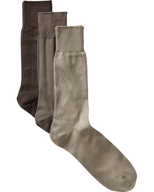 Jos. A. Bank   Natural Microfiber Dress Socks, 3-pack for Men   Lyst