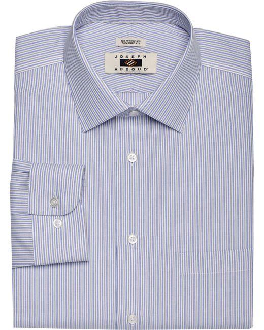 Lyst jos a bank joseph abboud tailored fit spread for Joseph abboud dress shirt