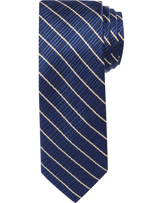 Jos. A. Bank | Blue Signature Gold Ribbed Stripe Tie for Men | Lyst