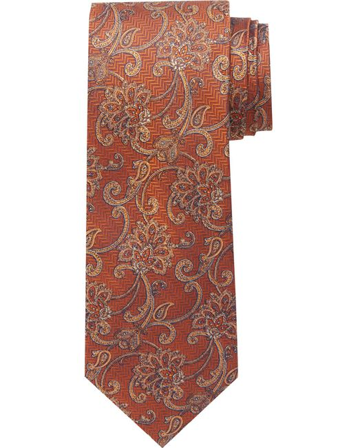 Jos. A. Bank - Orange Reserve Collection Textured Ornate Tie for Men - Lyst