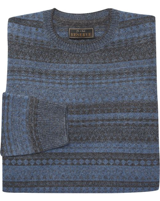 Jos. a. bank Reserve Collection Fair Isle Sweater Big And Tall in ...