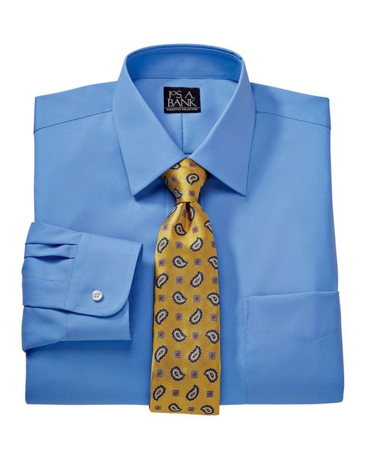 Jos a bank executive collection traditional fit spread for Tall collar dress shirts
