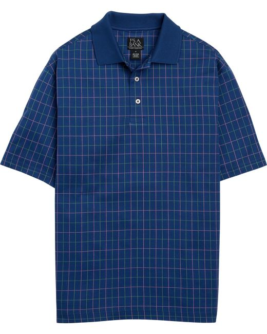 Jos. A. Bank | Blue Classic Collection Traditional Fit Grid Pattern Polo for Men | Lyst