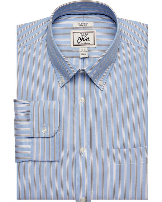 Lyst jos a bank 1905 collection slim fit button down for Joseph banks dress shirts