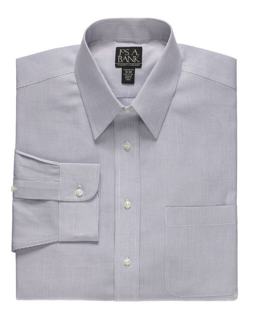 Jos a bank traveler tailored fit point collar dress for Joseph banks dress shirts