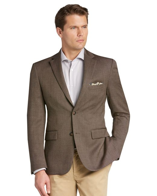 Jos. A. Bank | Brown Traveler Collection Tailored Fit Birdseye Sportcoat Clearance for Men | Lyst