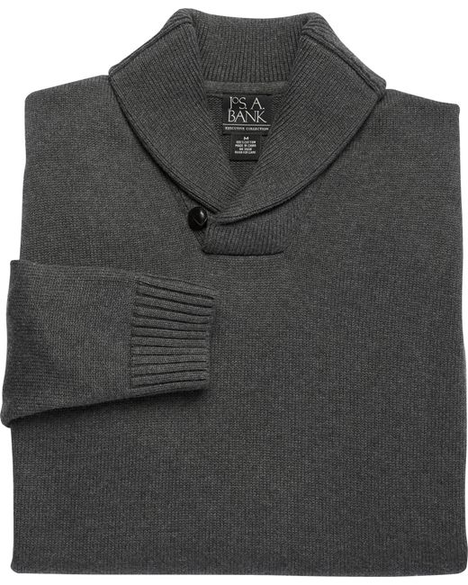 Jos. A. Bank | Gray Executive Collection Cotton Shawl Collar Sweater Clearance for Men | Lyst