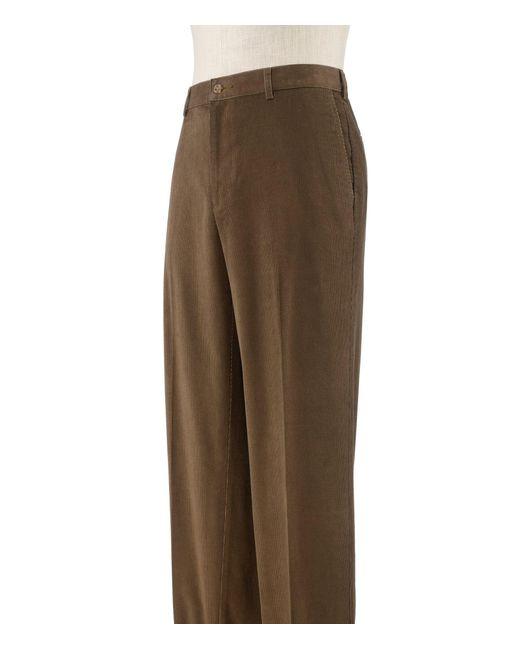 Jos. A. Bank - Brown Executive Collection Traditional Fit Pleat Front Corduroy Pants Clearance for Men - Lyst