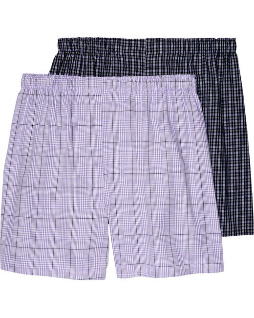 Jos. A. Bank - Purple Plaid Woven Boxers, 2-pack - Big & Tall for Men - Lyst