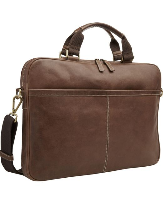 Jos. A. Bank - Brown Leather Laptop Bag for Men - Lyst