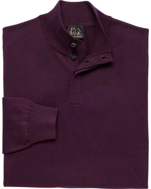 Jos. A. Bank - Purple Signature Collection Cotton Mock Neck Sweater for Men - Lyst