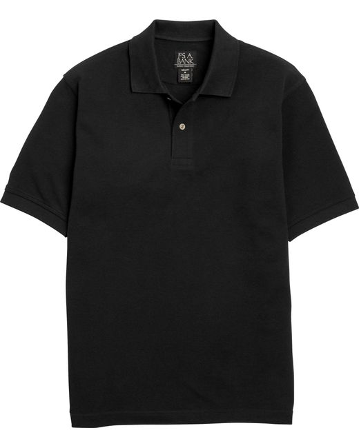 Jos. A. Bank | Black Classic Collection Tailored Fit Pique Polo Big & Tall Clearance for Men | Lyst
