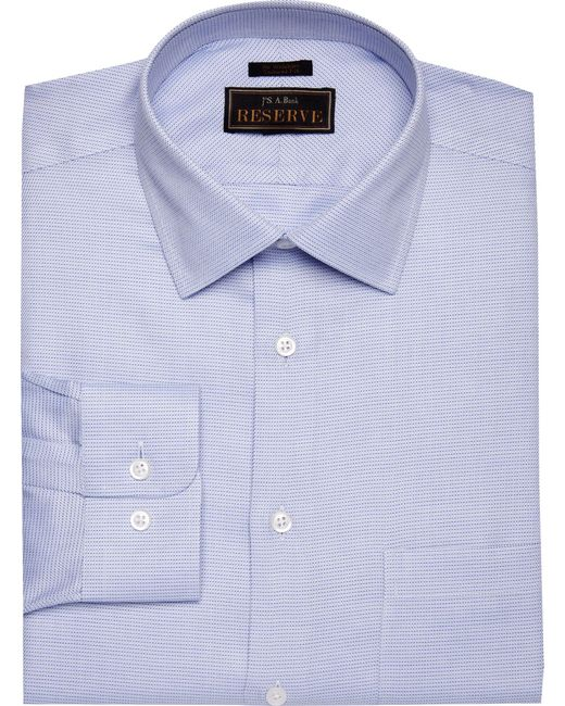 Jos a bank reserve collection tailored fit spread collar for Joseph banks dress shirts