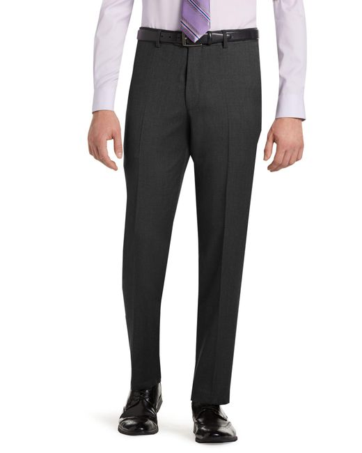 Jos. A. Bank - Gray Classic Collection Suit Separate Slim Fit Plain Front Trousers for Men - Lyst