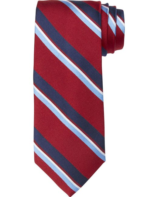 Jos. A. Bank | Red Executive Collection Wide Stripe Tie Clearance for Men | Lyst