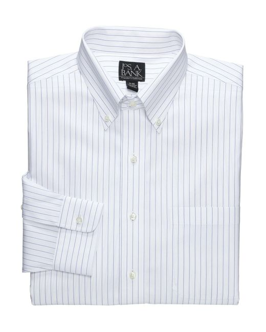 Lyst jos a bank traveller collection traditional fit for Tall button down shirts