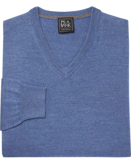 Jos. A. Bank - Blue Traveler Collection V-neck Cashmere Sweater for Men - Lyst