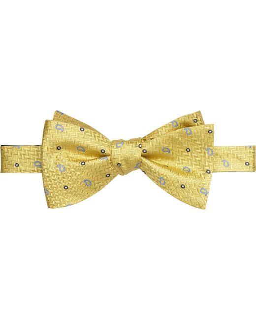 Jos. A. Bank | Yellow Herringbone & Pine Self-tie Bow Tie for Men | Lyst