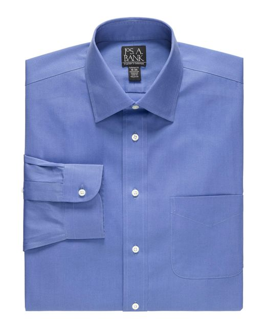 Lyst jos a bank traveller collection slim fit spread for Spread collar slim fit dress shirts
