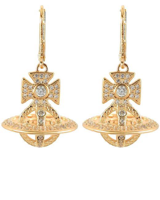 Vivienne Westwood | Metallic Isabella Orb Earrings | Lyst
